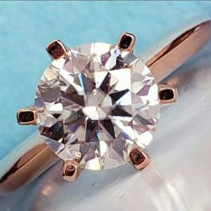 2CT Classic Princess Moissanite Diamond Ring sz7